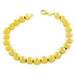 Fremada Gold over Silver 8-mm Polished Bead Ball Bracelet