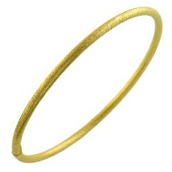 Fremada Gold over Sterling Silver 3-mm Satin Slip-on Bangle Bracelet