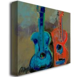 Boyer 'Red and Blue' Canvas Art - Thumbnail 1