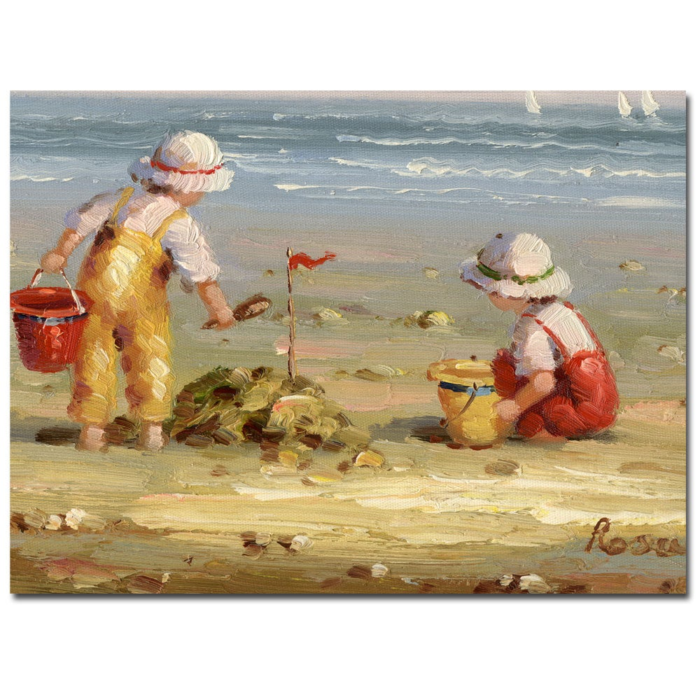 Rosa 'At the Beach' Canvas Art - Free Shipping Today ...