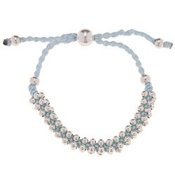 La Preciosa Silverplated Lavender Cord Friendship Bracelet