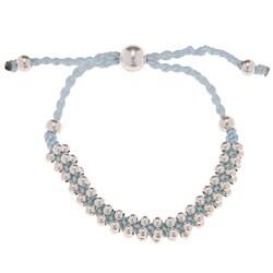 La Preciosa Silverplated Lavender Cord Friendship Bracelet