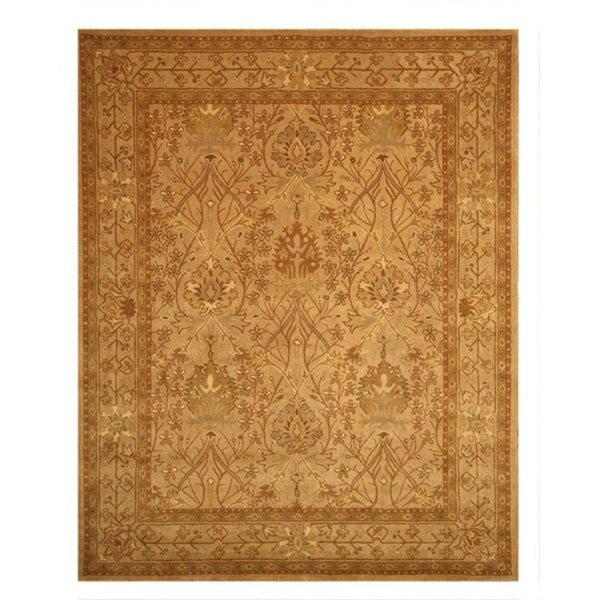 Shop Beige Wool Hand Knotted Oriental Persian Area Rug 6: Shop Hand-tufted Wool Beige Traditional Oriental Morris