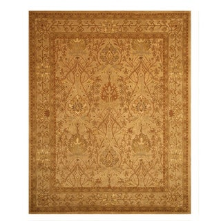 Hand-tufted Wool Beige Traditional Oriental Morris Rug (6' x 9')