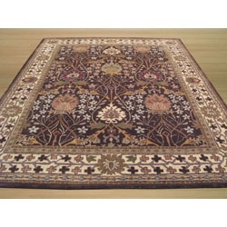 Hand-tufted Wool Brown Traditional Oriental Morris Rug (7'9 x 9'9)