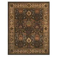 Hand-tufted Wool Brown Traditional Oriental Morris Rug (7'9 x 9'9)