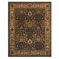 "Link to Hand-tufted Wool Brown Traditional Oriental Morris Rug (7'9 x 9'9) - 7'9"" x 9'9"" Similar Items in Transitional Rugs"