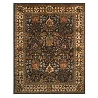 Hand-tufted Wool Brown Traditional Oriental Morris Rug (6' x 9')
