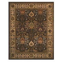 Hand-tufted Wool Brown Traditional Oriental Morris Rug - 6' x 9'
