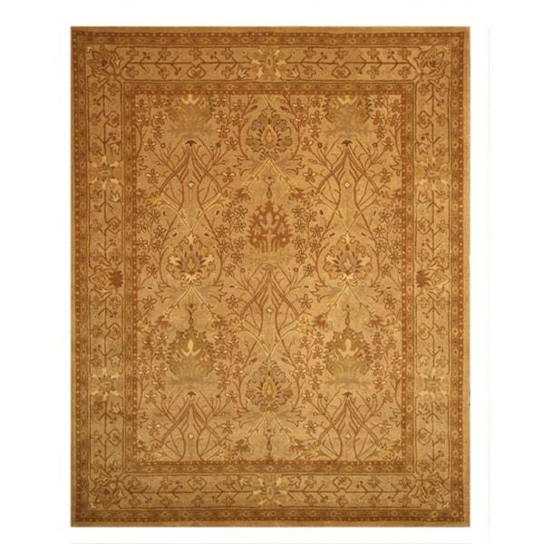 EORC Hand-tufted Wool Beige Morris Rug (8'9 x 11'9)
