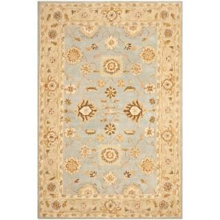 Safavieh Handmade Anatolia Farahan Light Blue/ Sage Wool Rug (4' x 6')