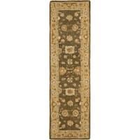 "Safavieh Handmade Anatolia Oriental Farahan Brown/ Taupe Hand-spun Wool Rug - 2'3"" x 8'"