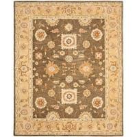 Safavieh Handmade Anatolia Oriental Farahan Brown/ Taupe Hand-spun Wool Rug - 4' x 6'