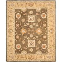 Safavieh Handmade Anatolia Oriental Farahan Brown/ Taupe Hand-spun Wool Rug - 5' x 8'