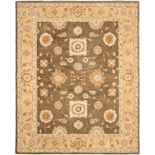 Safavieh Handmade Anatolia Oriental Farahan Brown/ Taupe Hand-spun Wool Rug (9'6 x 13'6)