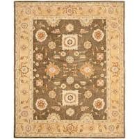 Safavieh Handmade Anatolia Oriental Farahan Brown/ Taupe Hand-spun Wool Rug - 6' x 9'