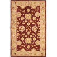 Safavieh Handmade Anatolia Oriental Farahan Red/ Sage Green Hand-spun Wool Rug - 8' x 10'