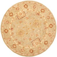 Safavieh Handmade Anatolia Oriental Farahan Sage Green Hand-spun Wool Rug - 6' x 6' Round