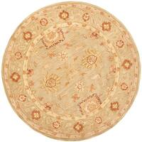Safavieh Handmade Anatolia Oriental Farahan Sage Green Hand-spun Wool Rug (8' Round)
