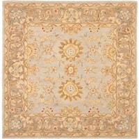 Safavieh Handmade Anatolia Treasure Oriental Teal/ Brown Hand-spun Wool Rug (6' Square)
