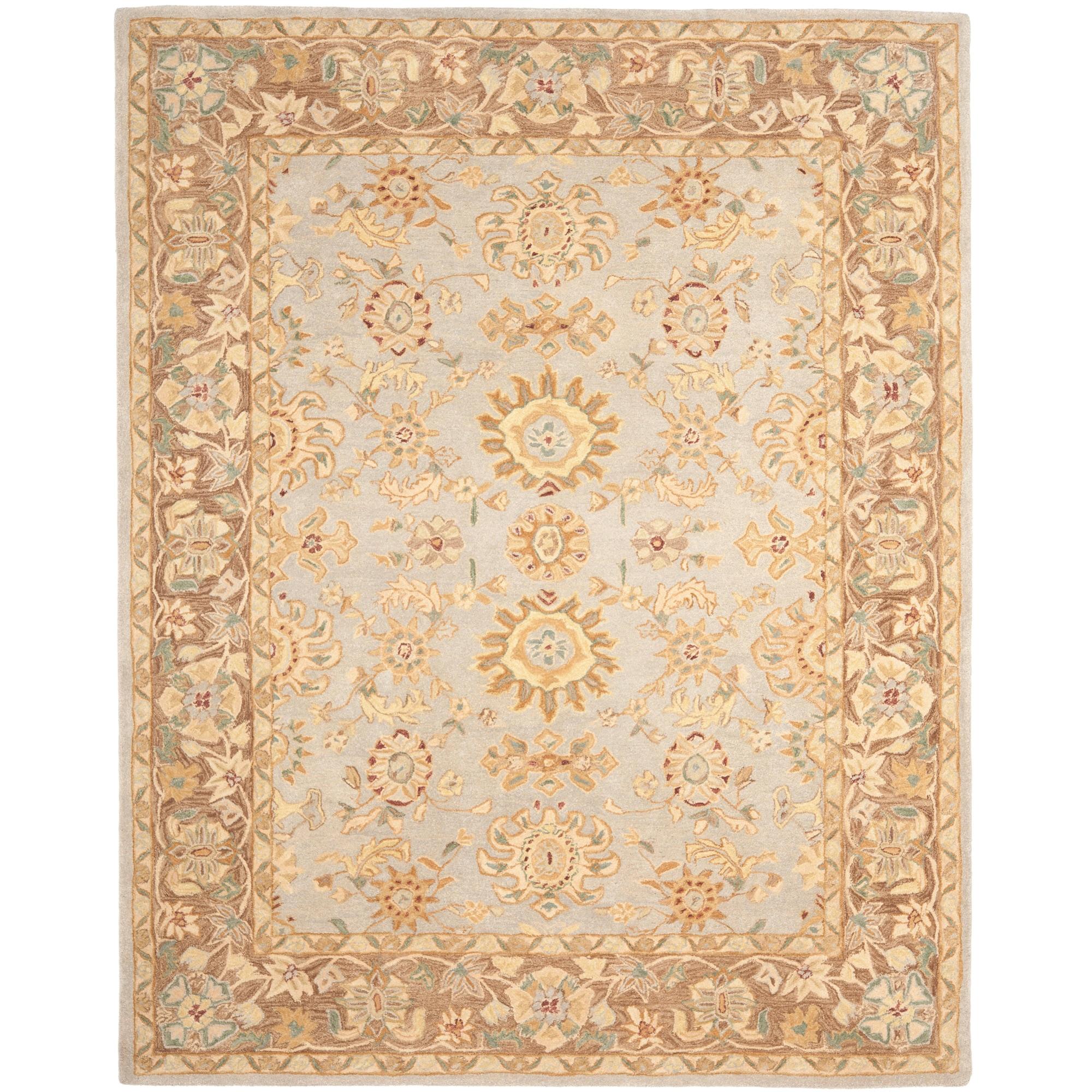 Safavieh Handmade Anatolia Treasure Oriental Teal/ Brown Hand-spun Wool Rug (9' x 12')