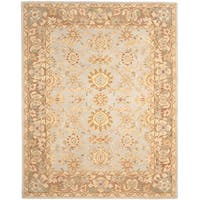 Gracewood Hollow Quinn Oriental Teal/ Brown Hand-spun Wool Rug (9' x 12')
