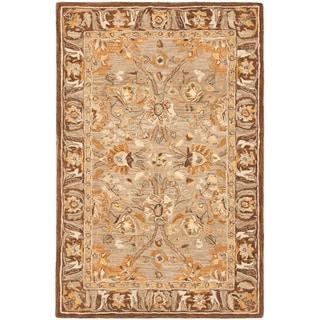 Safavieh Handmade Anatolia Oriental Dark Grey/ Brown Hand-spun Wool Rug (3' x 5')