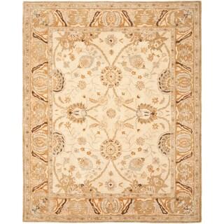 Safavieh Hand-made Silver/ Light Brown Hand-spun Wool Rug (4' x 6')