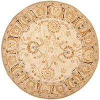 Safavieh Handmade Anatolia Oriental Silver/ Light Brown Hand-spun Wool Rug - 8' x 8' Round
