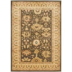 Safavieh Oushak Brown/ Cream Powerloomed Rug (9'6 x 13')