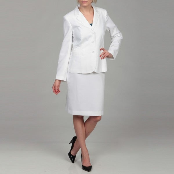 emily s white four button skirt suit free shipping