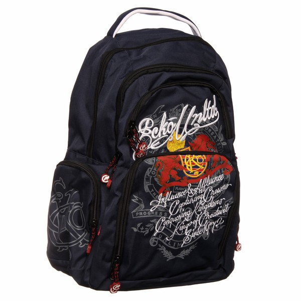 Shop Ecko Unlimited Heraldic Lux Navy Backpack - Free Shipping On