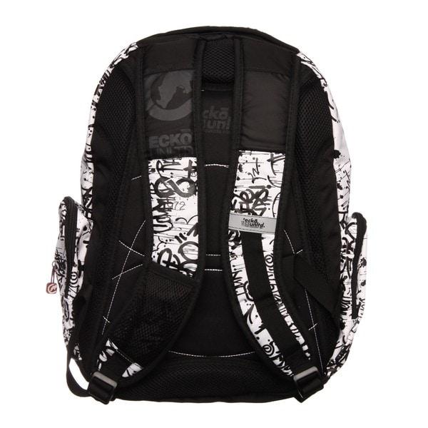 Shop Ecko Unlimited Splatter Black And White Backpack