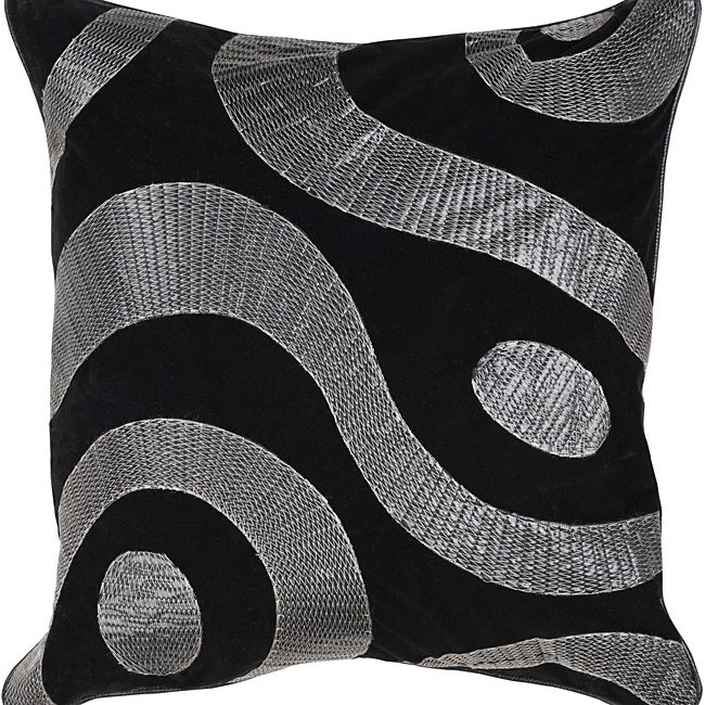 Dire 22-inch Square Poly Decorative Pillow