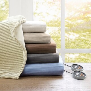 Beautyrest Ribbed Microfleece Twin-size Heated Blanket