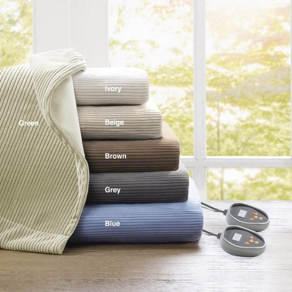 Beautyrest Ribbed Microfleece Full-size Heated Blanket