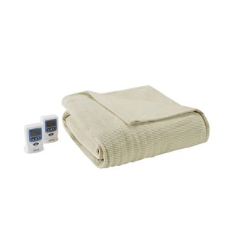 Beautyrest Ribbed Microfleece Full-size Heated Blanket