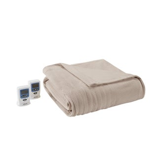 Beautyrest Ribbed Microfleece King-size Heated Blanket (Option: King-Beige)