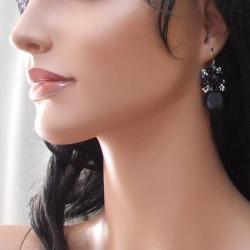 Handmade Drop Teardrop Black Onyx Pearl Silver Earrings (Thailand) - Thumbnail 2