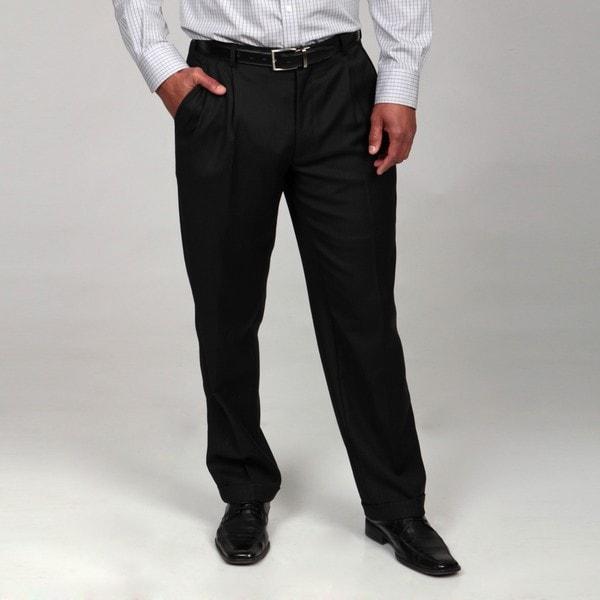 Dockers Men's Black Tonal Stripe Wool Suit Separates Pant