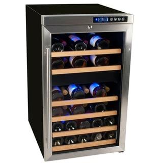 EdgeStar 34-Bottle Stainless Steel Dual Zone Wine Cooler