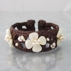 Lucky White Clover Pearl Cotton Cuff (Thailand)