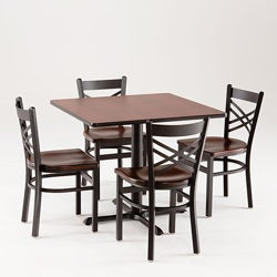 Cambridge 901 5-piece Black Cherry Dining Set