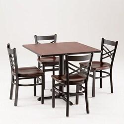 Cambridge 901 5 Piece Black Cherry Dining Set