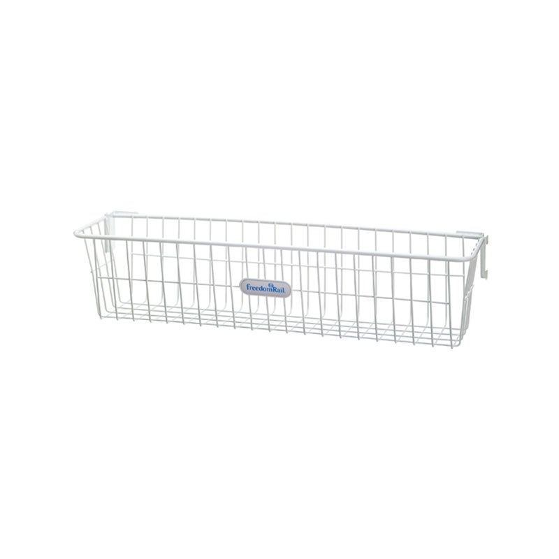 Organized Living freedomRail White Work Basket