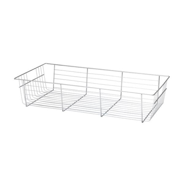 Organized Living freedomRail 6-inch Big O-Box Chrome Basket with Glide