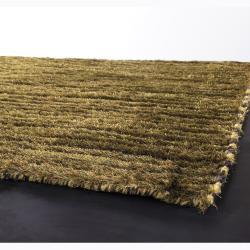 Artist's Loom Hand-woven Shag Rug (2'6 x 7'6) - Thumbnail 1