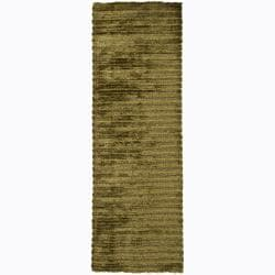 "Artist's Loom Hand-woven Shag Rug (2'6 x 7'6) - 2'6"" x 7'6"" - Thumbnail 0"