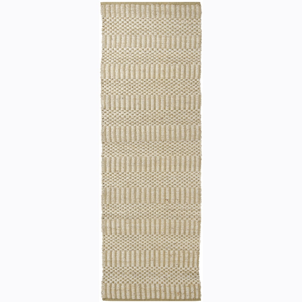 Artist's Loom Hand-woven Contemporary Natural Eco-friendly Fiber Reversible Rug (2'6 x 7'6)