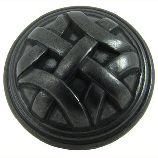 Stone Mill Hardware Cross Flory Antique Black Cabinet Knobs (Pack of 10)